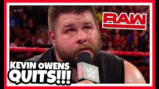 KEVIN OWENS QUITS Reaction | WWE Raw 8/27/18