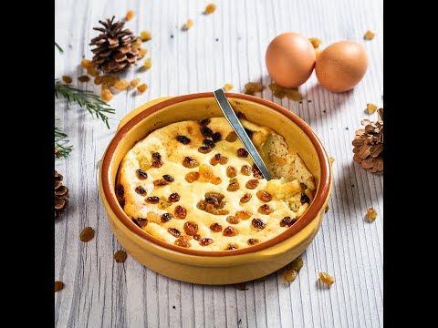 Sufleu din brânză de vaci cu stafide