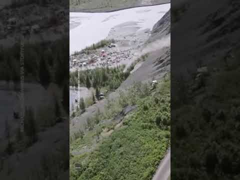 Small Alaska town celebrates Fourth of July by launching cars off a 300-foot cliff