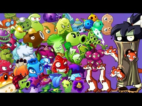 Plants vs. Zombies 2 it's about time: Weasel Hoarder Zombie vs Every Plant Power Up