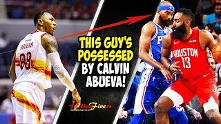 BUWISET NA BUWISET SI JAMES HARDEN! SINAPIAN NI CALVIN ABUEVA TO!  | COREY BREWER'S ANNOYING DEFENSE