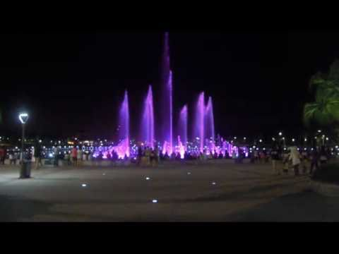 Musical fountain in Perdana Park , Kota Kinabalu,Tanjung Aru,Sabah