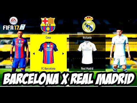 Fifa 17 Barcelona X Real Madrid│Campeonato Espanhol(Dublado Pt Br)HD-1080P