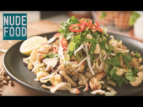 How To Make Vegetarian Pad Thai Youtube