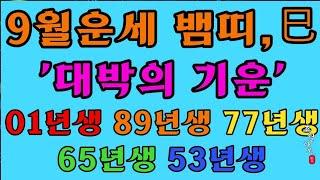 [9월운세] 뱀띠 '대박의 기운!!'