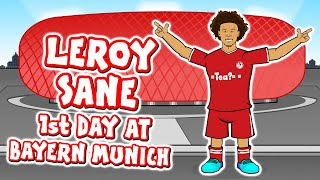 🔴LEROY SANE's 1st Day at Bayern Munich!🔴 (Sane signs for FC Bayern Munchen)