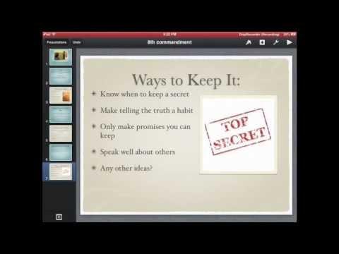 iPad Apps at Presentation School