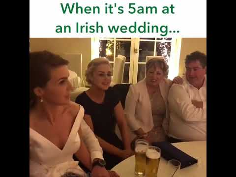 The Rattlin Bog (Fast Version ) song must listen sung at Irish wedding irish wedding 5am