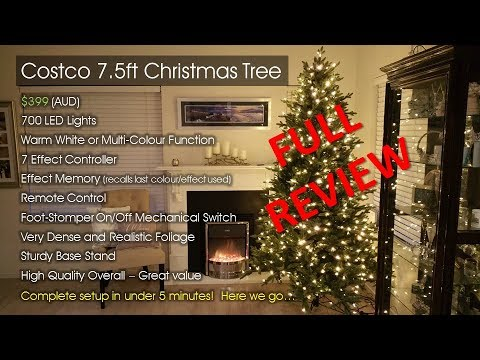 costco christmas tree 2017 australia 75ft setup in under 5 minutes yes