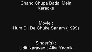 Chand Chupa Badal Mein - Karaoke - Hum Dil De Chuke Sanam (1999) - Udit Narayan, Alka Yagnik
