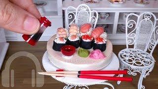 Mini sushi cake! DIY edible candy sushi, like Popin Cookin - ASMR