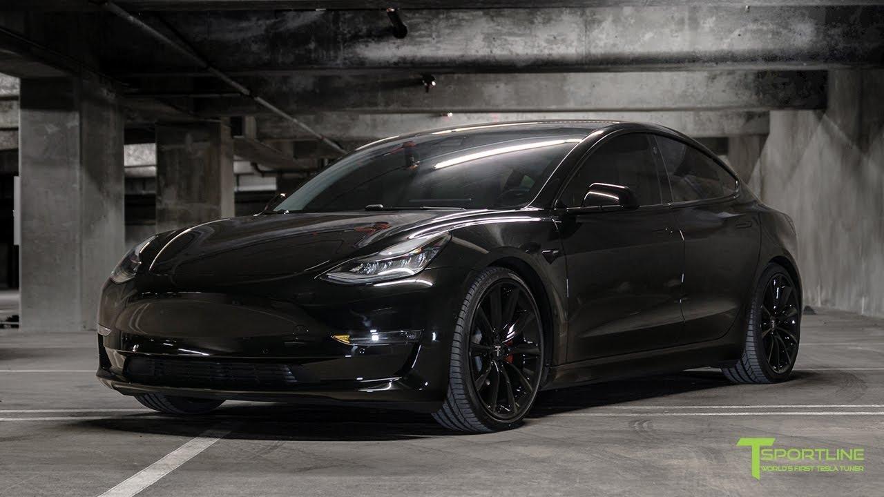 Black Tesla Model 3 Gets Ed Out