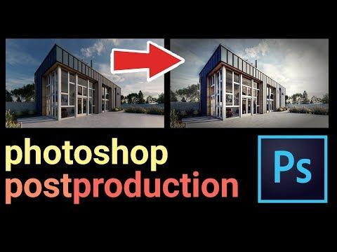 Photoshop Post Production Architecture Visualization (Best Tutorial)