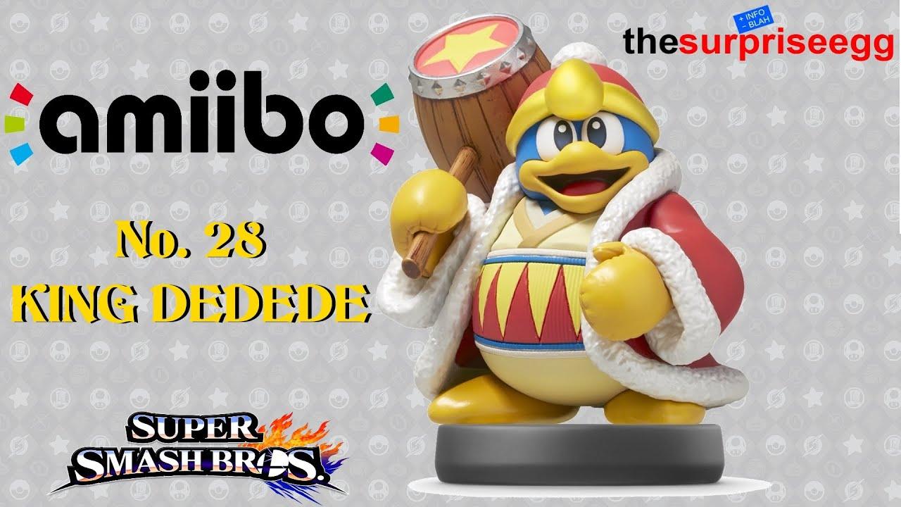 Unboxing Amiibo King Dedede Figure No 28 Super Smash Bros Wii U