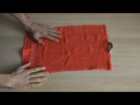 Лайфхак как компактно сложить полотенце