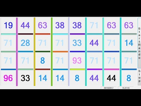 Using Random Function to Generate Numbers and Change Properties Settings in C#