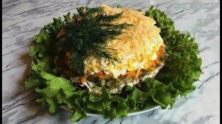 Салат с печень, огурцами и морковью, Быстро и Вкусно #рецепт