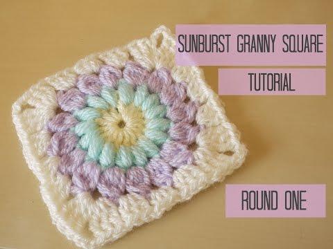 CROCHET: Sunburst granny square tutorial: ROUND ONE | Bella Coco
