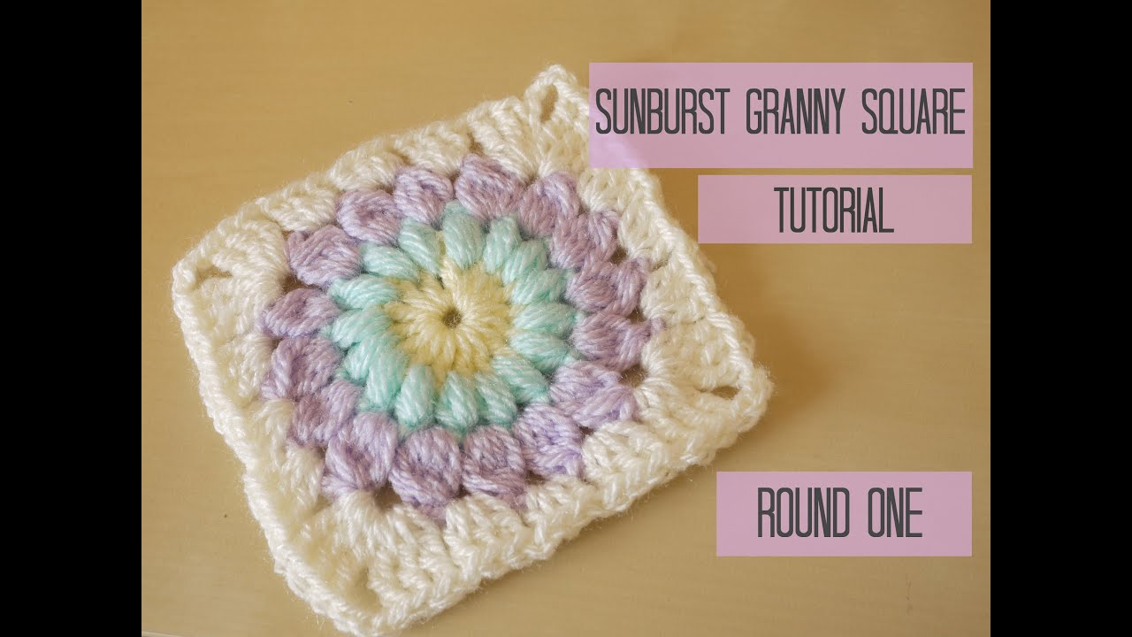 Crochet Granny Square Diagram Electrical Wiring For Dummies Sunburst Tutorial Round One Bella Coco