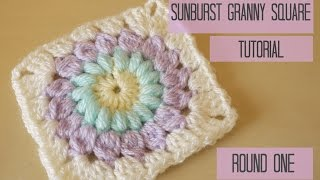 CROCHET: Sunburst granny square tutorial: ROUND ONE | Bella Coco