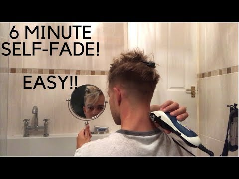 How To Fade Your Own Hair In 6 Minutes! Men's Self Haircut Step By Step Easy Tutorial