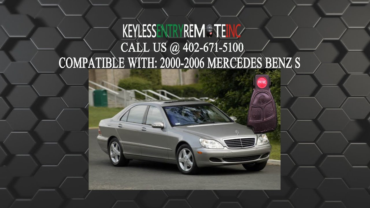 how to replace mercedes benz s500 s600 s450 class key fob battery 2000 2001 2002 2003 2004 2005 2006 [ 1280 x 720 Pixel ]