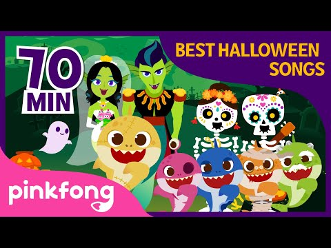 Halloween Zombie Sharks and more   Halloween Songs   +Compilation   Pinkfong Songs for Children