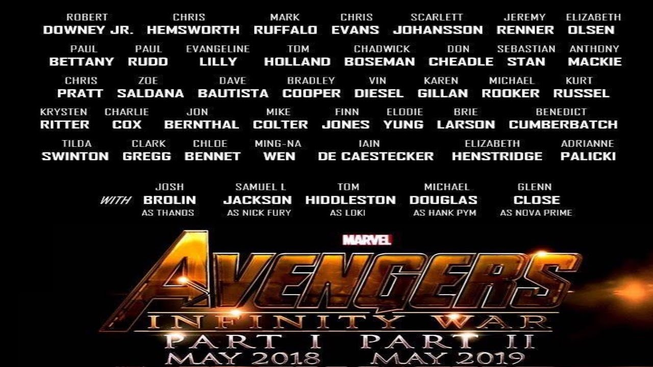 infinity list. list of 43 huge actors just released for infinity war | speculations and discussion infinity i