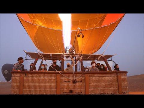 Day33: Celebrating my Birthday in a hot air balloon over Dubai desert