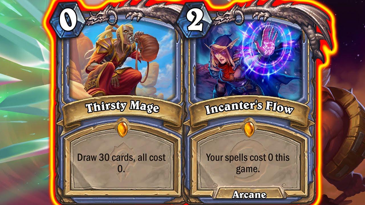 Spell Mage Is Way Too BROKEN! Incanter's Flow Needs BANNED! Barrens Mini-Set   Hearthstone