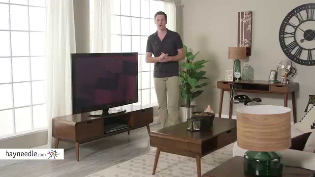 Belham Living Carter Mid Century Modern TV Stand   Product Review Video    YouTube