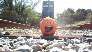 The Stupid Orange In Got Run Over By A Train