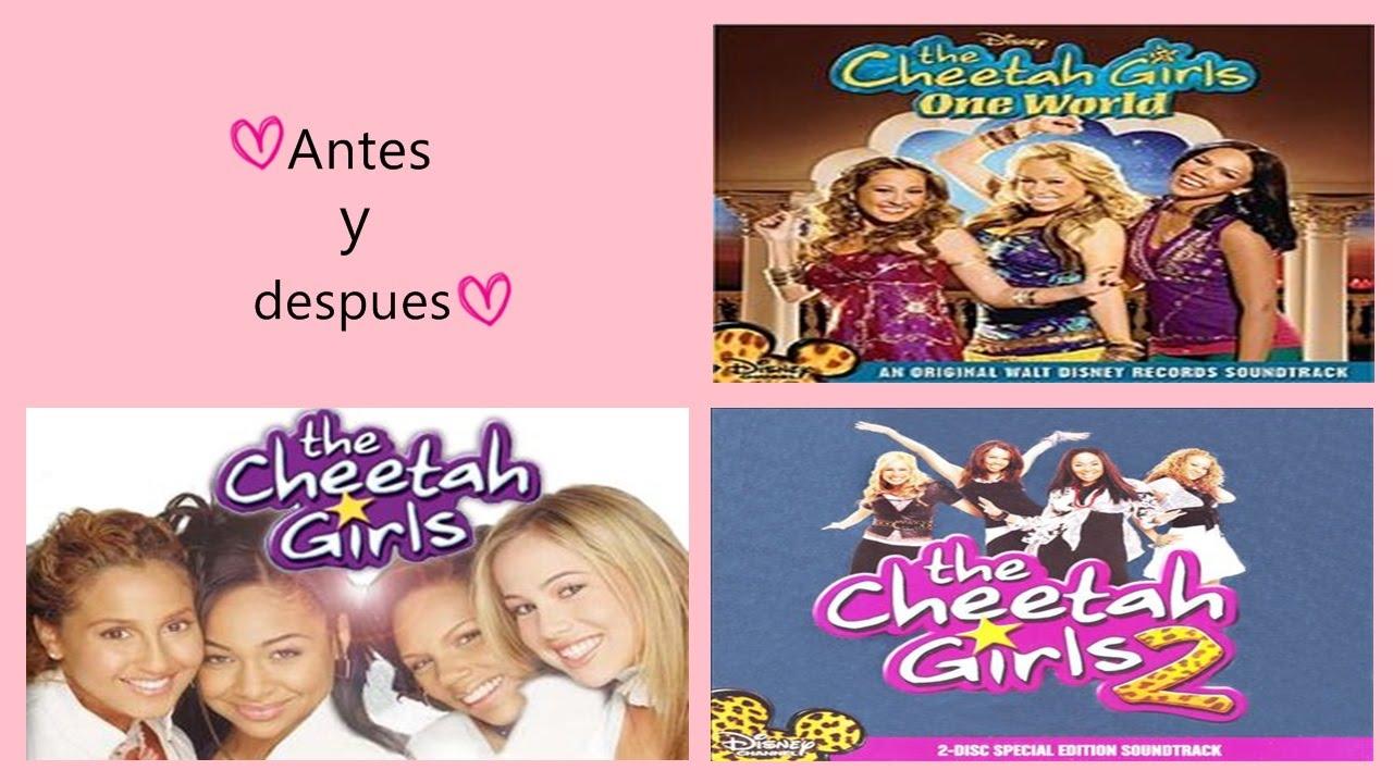 Antes y Después de The cheetah girls, the cheetah girls 2, the cheetah girls 3♥ 02/10/15