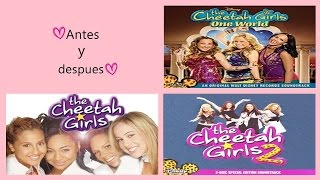 Antes y Después de The cheetah girls, the cheetah girls 2, the cheetah girls 3♥ 02/10/15