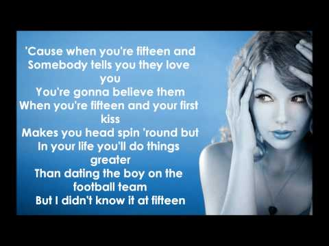 Taylor Swift - Fifteen Lyrics HD