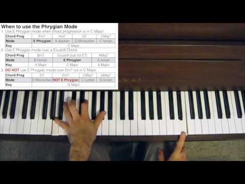 Jazz Piano Tutorial - Phrygian Chords