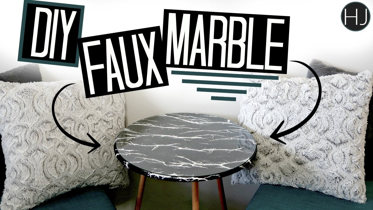 DIY Faux Marble Table Top