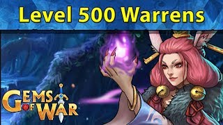 Gems of War: Level 500 Warrens Deathless and Pure Faction