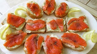 Бутерброд да не тот Бутерброды с красной рыбой ВКУСНОТА