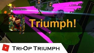 Beating the game: Tri-op Triumph! | Tower Battles [ROBLOX]
