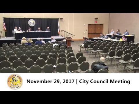 City Council Meeting | November 29, 2017