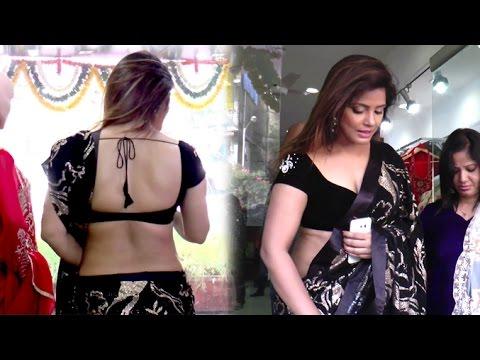 Neetu Chandra In Saree At Designer Sandhya Singh's Store Launch In Mumbai