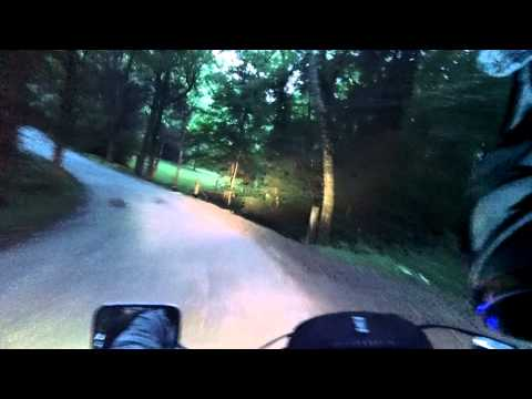 Riding down Tate Ln