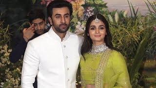 Ranbir Kapoor With Alia Bhatt At Sonam Kapoor Anand Ahuja Wedding Reception