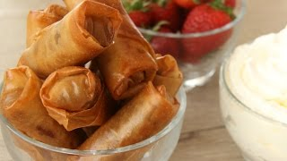 Spring Rolos - Spring rolls with rolo chocolate  and Nutella