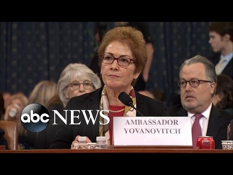 Yovanovitch responds to Trump tweets during hearing | ABC News