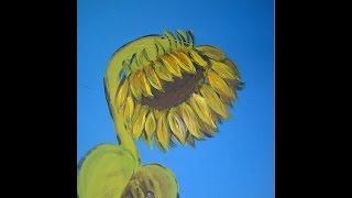 КАК НАУЧИТЬСЯ РИСОВАТЬ ПОДСОЛНУХ (очень просто, для начинающих)How To Draw Sunflowers(Здравствуйте! Предлагаю вашему вниманию видеоролик, где я показываю, как очень просто акриловыми красками,..., 2014-07-10T18:24:33.000Z)
