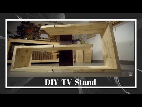 DIY Wood Handmade TV Stand Out Of Reclaimed Wood 2018