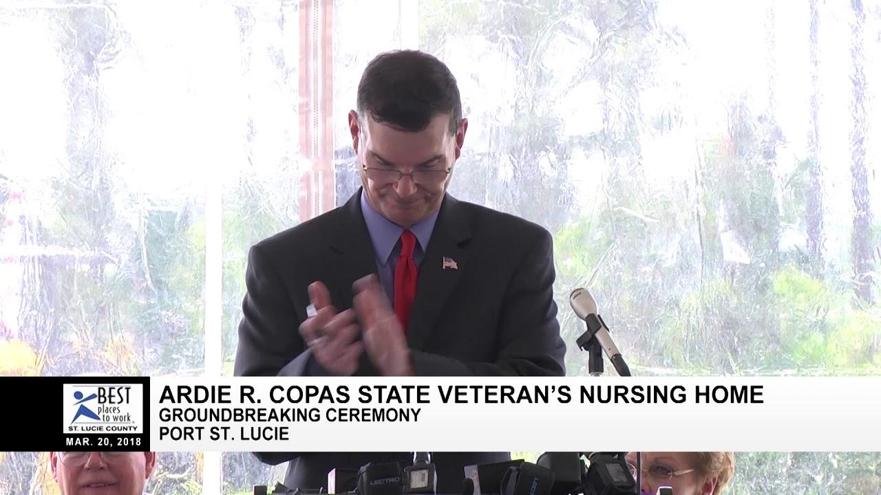 Ardie R  Copas State Veterans' Nursing Home Groundbreaking 032018