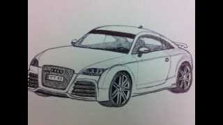 "Audi TT RS ""How to Draw 3D"""